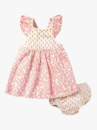 cf920f389 Mini Boden Baby Smocked Hotchpotch Dress and Knickers Set, Shell Pink  Friends