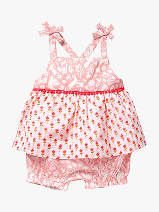 Mini Boden Baby Floral Play Set, Shell Pink Bud