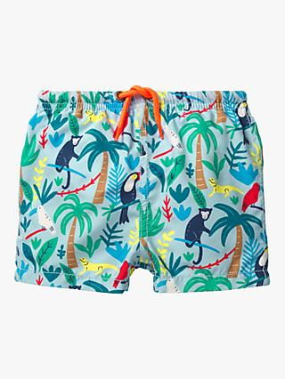 d503445ec7c11 Mini Boden Baby Bathers Beach Shorts, Go Wild Multi