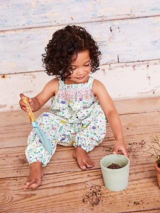 b720b18182b Mini Boden Baby Smocked Floral Playsuit