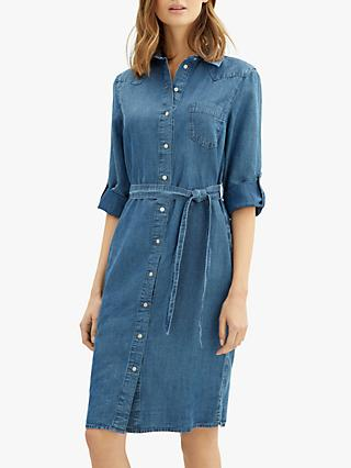 279a4218e2ea Jaeger Chambray Denim Shirt Dress