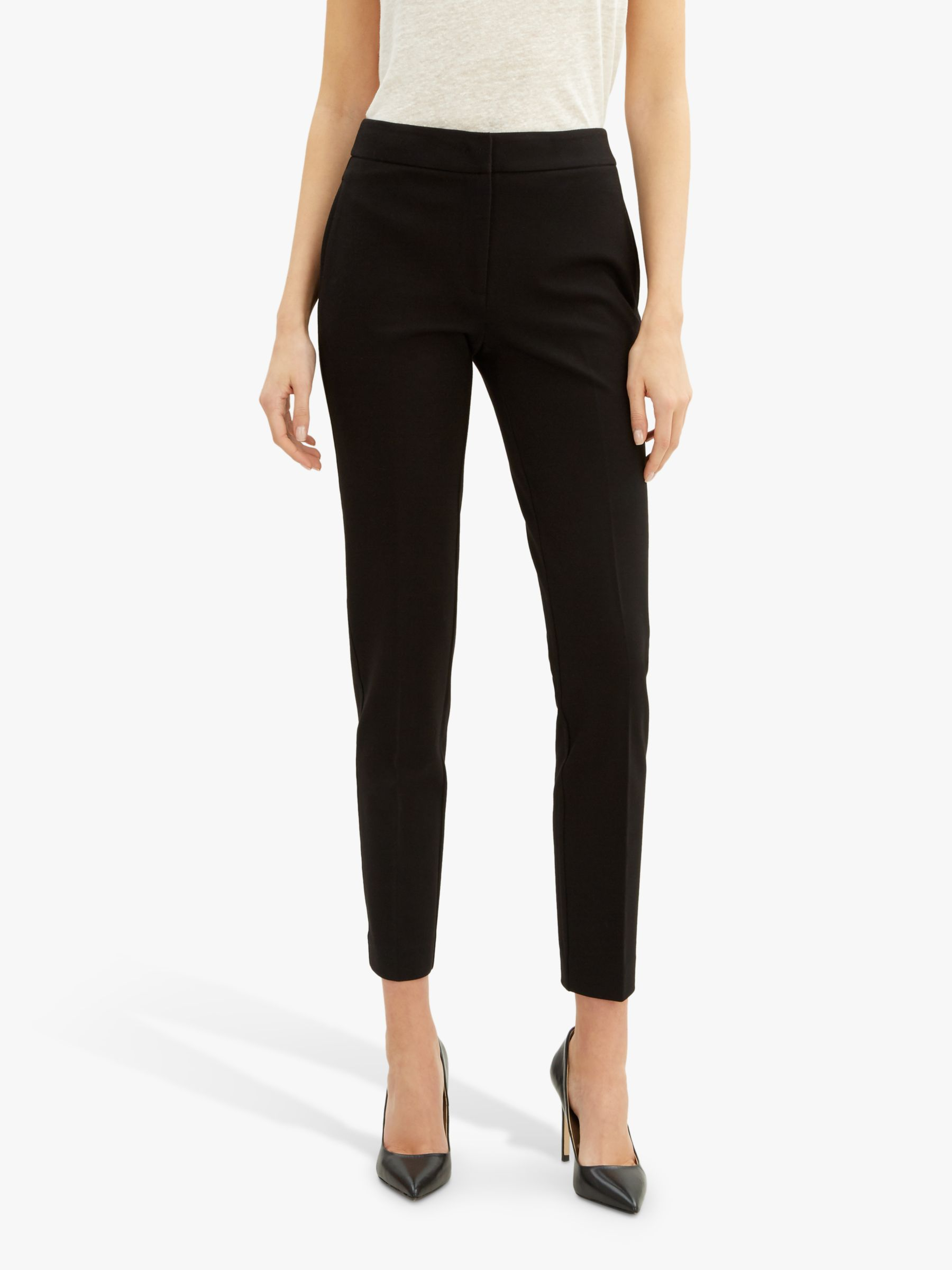 Jaeger Jaeger Ponte Tailored Ankle Trousers, Black