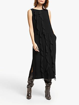 Modern Rarity Ruffle Front Dress, Black