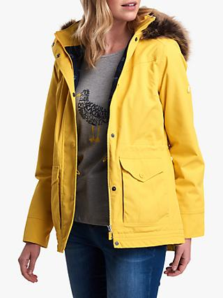 Barbour Abalone Waterproof Hooded Jacket, Yellow