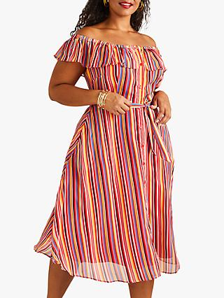 Yumi Stripe Skater Dress, Multi