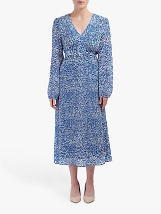 Pyrus Hazel Animal Print Dress, Blue