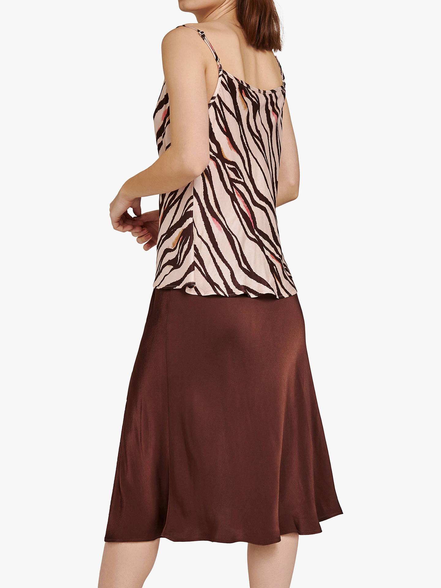 6e062eacf93e ... Buy Ghost Lipa Satin Skirt, Chocolate, XS Online at johnlewis.com ...
