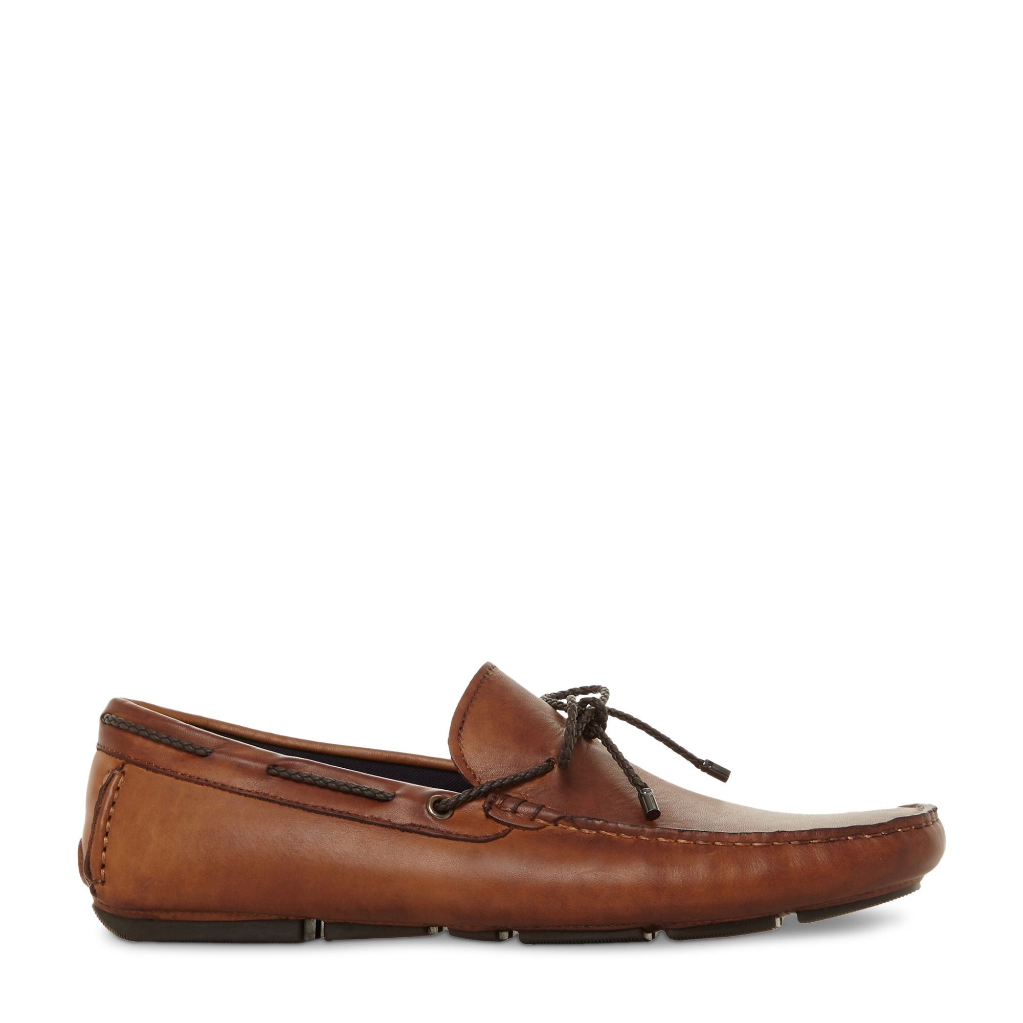 Dune Dune Brandstable Leather Driver Loafers, Tan