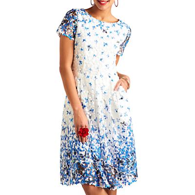 Image of Yumi Butterfly Lace Dress, Blue