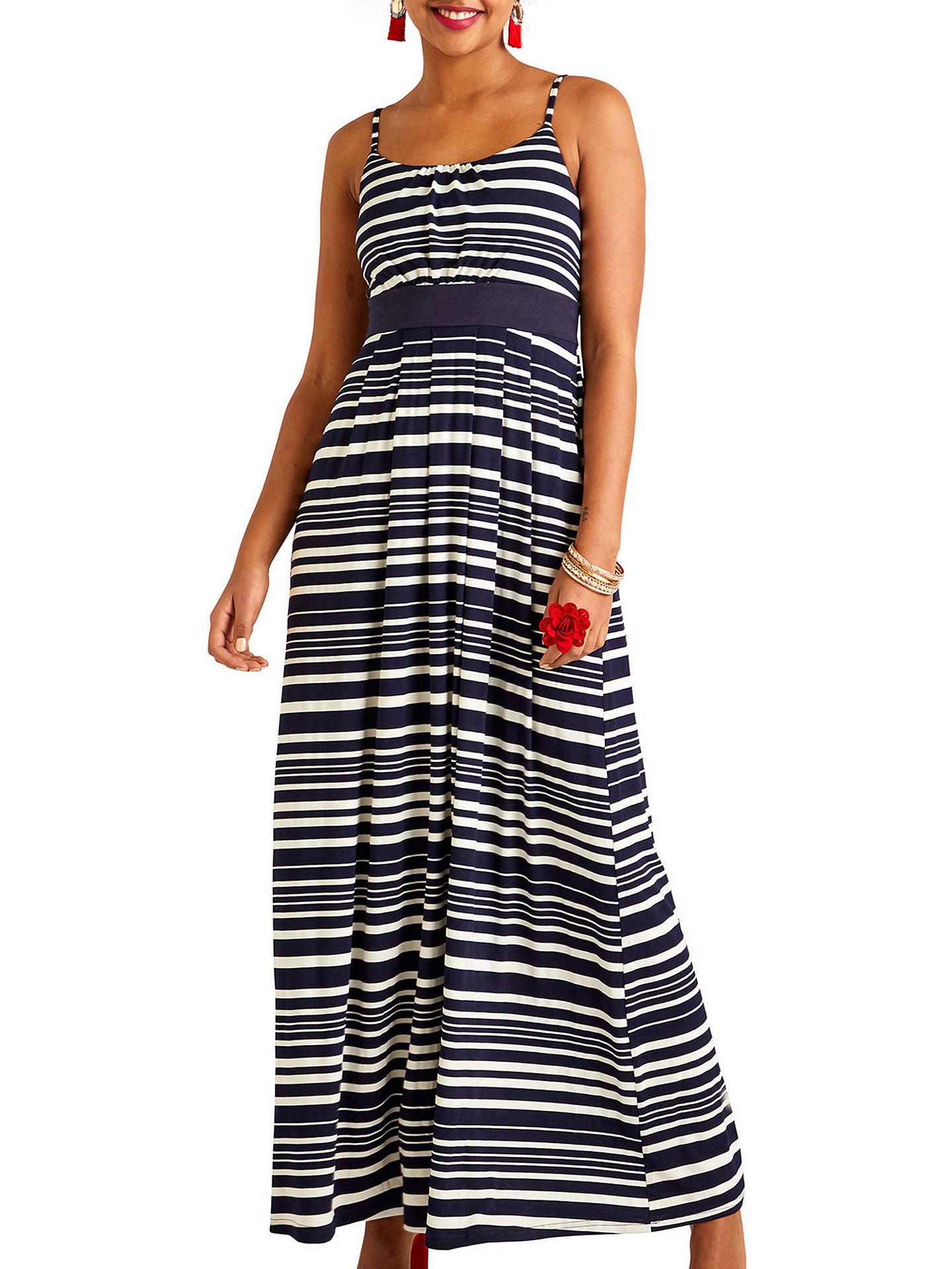 870d158d69100 Yumi Nautical Stripe Jersey Maxi Dress, Navy