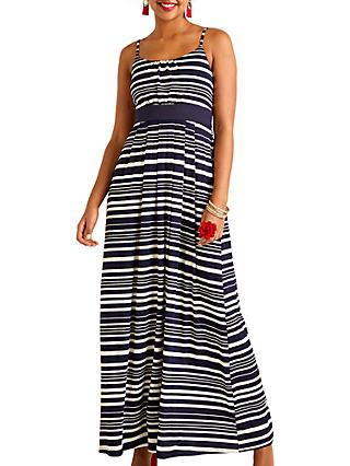 39de66a8bb4 Yumi Nautical Stripe Jersey Maxi Dress