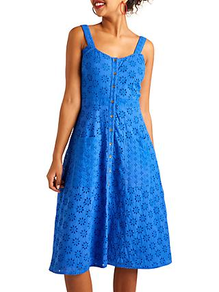Yumi Broderie Sundress, Blue