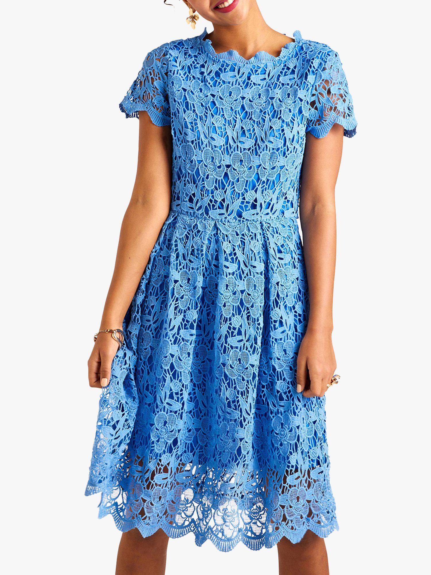 Yumi Yumi Floral Lace Dress, Blue/Multi