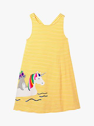 f24dfd34ad20 Mini Boden Girls' Cross Back Unicorn Embroidered Dress, Yellow