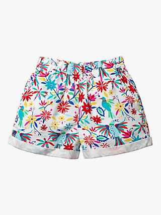 Mini Boden Girls' Colourful Floral Woven Shorts, Multi
