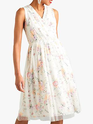 Yumi Garden Print Dress, White