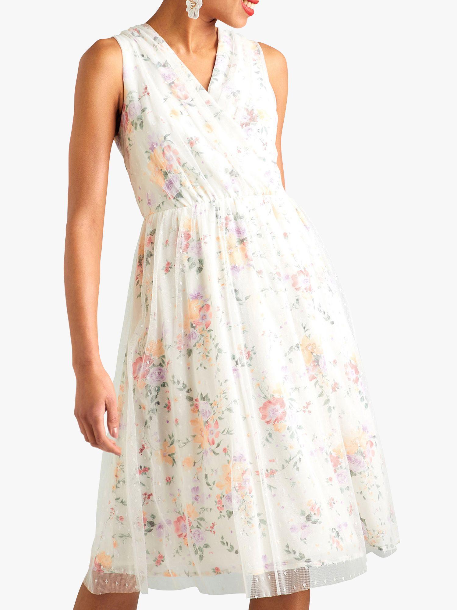 Yumi Yumi Garden Print Dress, White