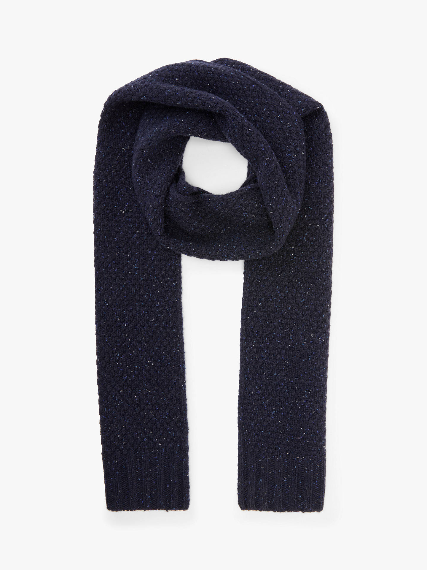Buy John Lewis & Partners Donegal Moss Scarf, Navy, One Size Online at johnlewis.com