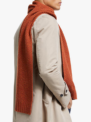 Buy John Lewis & Partners Donegal Moss Scarf, Rust, One Size Online at johnlewis.com