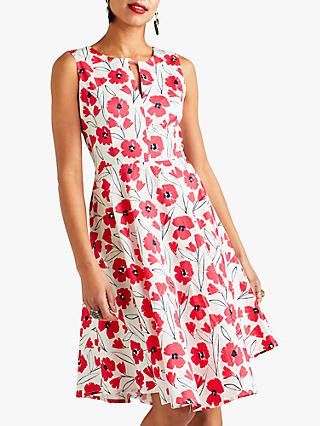 Yumi Sketchy Flower Cotton Skater Dress