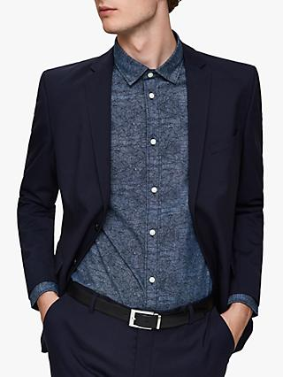 SELECTED HOMME Slim Fit Mark Washed Shirt, Dark Sapphire