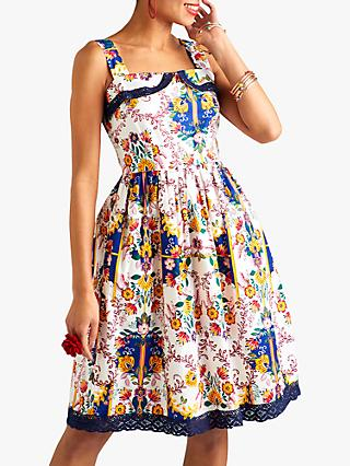 3e4067d2cc Yumi Mexican Floral Print Dress