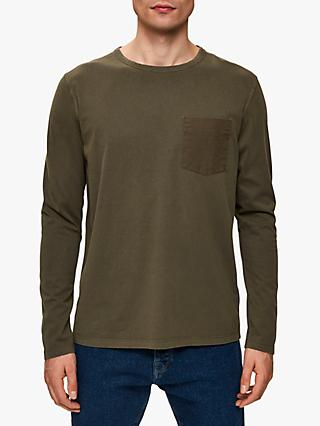 SELECTED HOMME Organic Cotton Long Sleeve T-Shirt, Sea Turtle