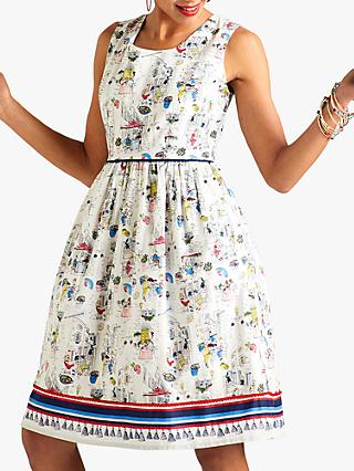 Yumi Tapas Scene Sun Dress, Multi
