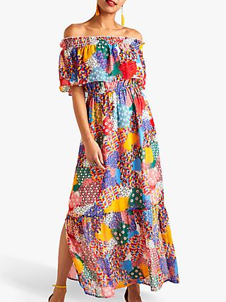 Yumi Patchwork Heart Maxi Dress, Multi