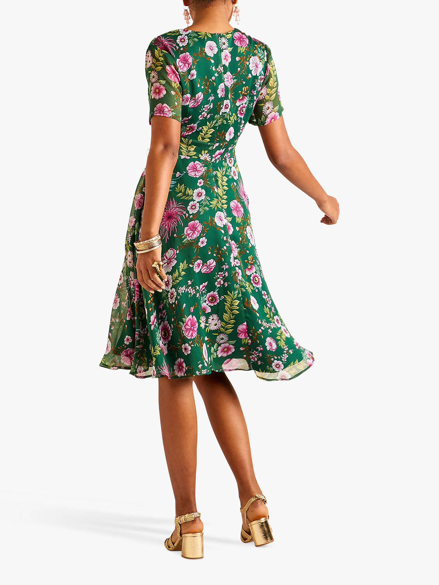 322a624dd71 ... Buy Yumi Floral Tie Waist Tea Dress