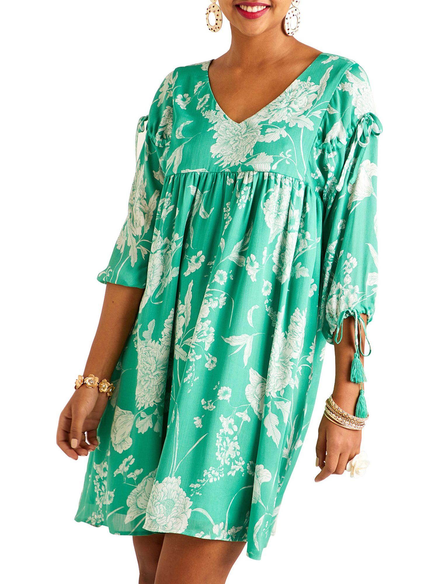 Yumi Yumi Floral Print Dress, Green