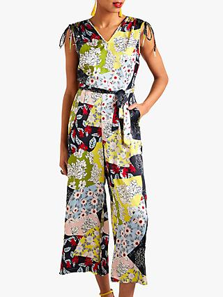 Yumi Patchwork Print Sleeveless Jumpsuit