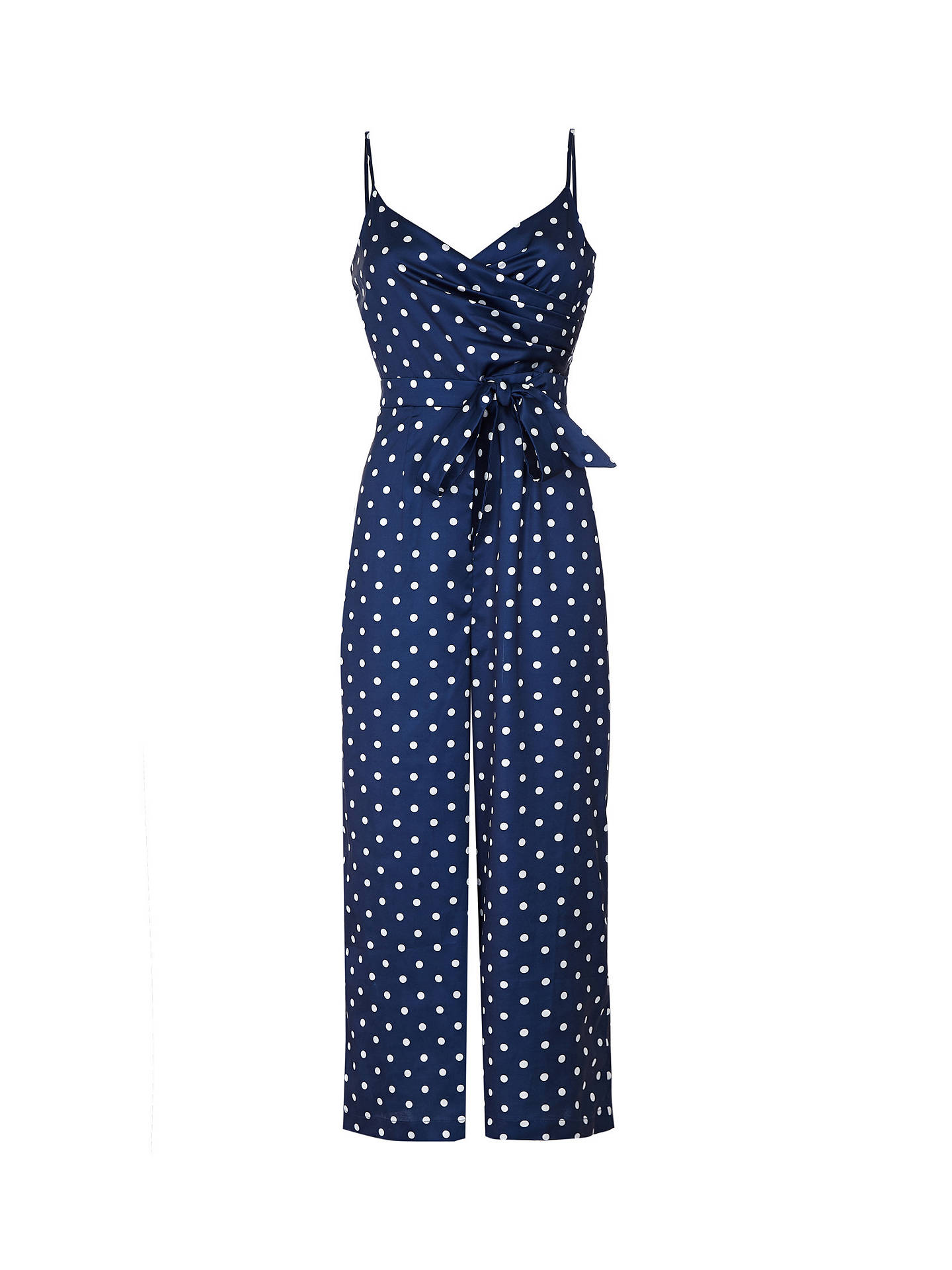 Buy Yumi Polka Print Sleeveless Jumpsuit, Navy, 12 Online at johnlewis.com