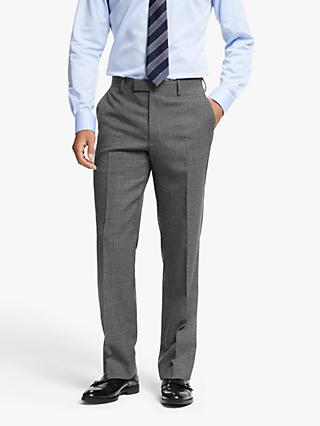 John Lewis & Partners Wool Crosshatch Regular Fit Suit Trousers, Grey