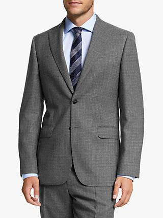 John Lewis & Partners Wool Crosshatch Regular Fit Suit Jacket, Grey