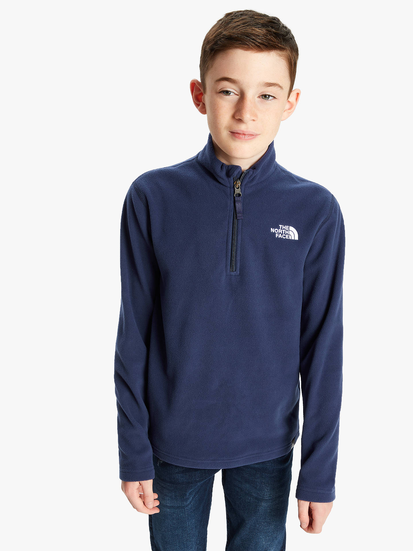 8c6524833 The North Face Boys' Glacier Fleece Jumper, Navy at John Lewis ...