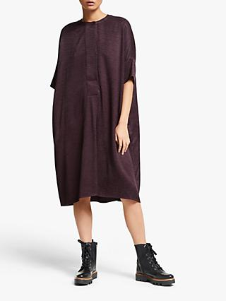 Kin Jacquard Oversized Dress, Dark Purple