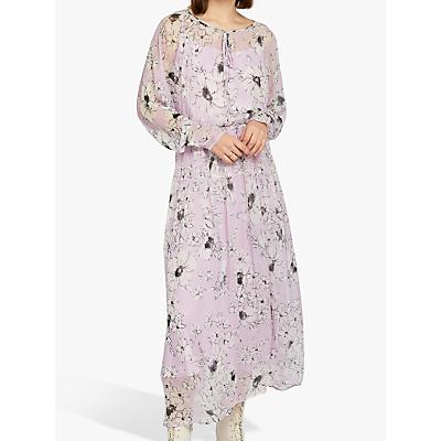 Ghost June Floral Dress, Purple/Multi
