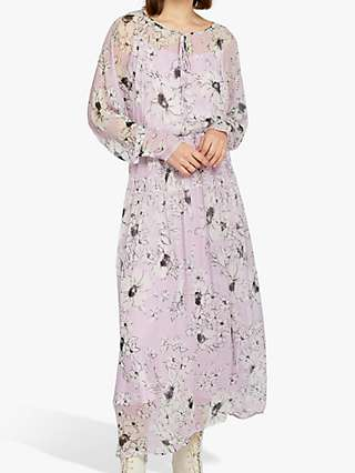 Ghost June Floral Dress, Purple/Multi