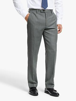 John Lewis & Partners Wool Prince of Wales Check Regular Fit Suit Trousers, Grey