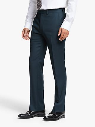 John Lewis & Partners Wool Birdseye Slim Fit Suit Trousers, Teal