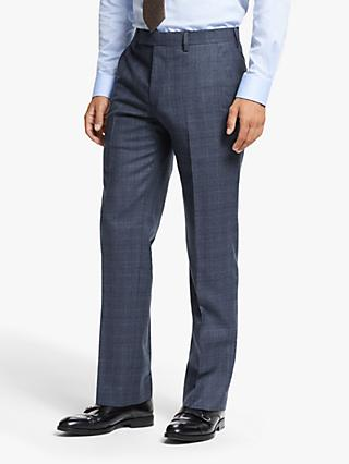 John Lewis & Partners Prince of Wales Check Tailored Fit Suit Trousers, Navy