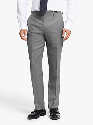 John Lewis & Partners Wool Puppytooth Tailored Fit Suit Trousers, Grey