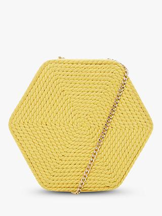 Dune Edalta Woven Hexagonal Chain Strap Bag