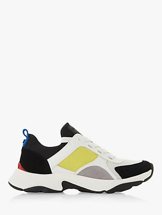 on sale 1f975 80c4f Dune Eiffel Contrast Panel Trainers, White