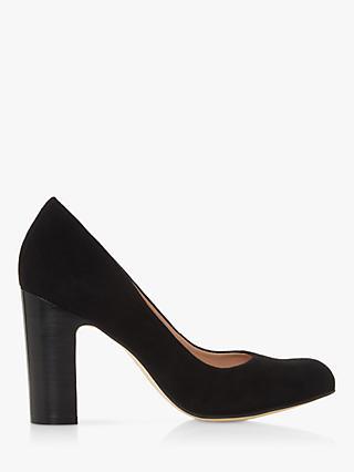 5532f0f896f8 Dune Arte Suede Block Heel Court Shoes