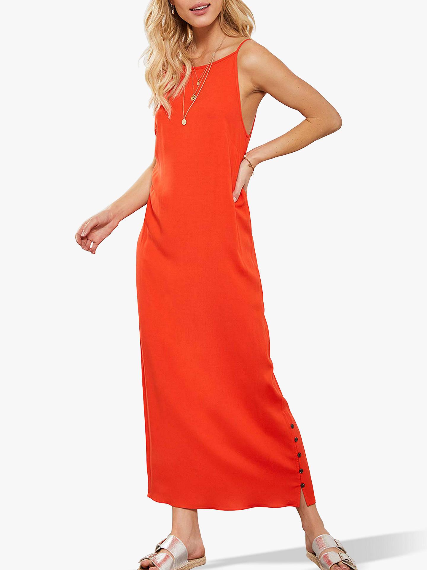2bd2a134532e0 Mint Velvet Button Detail Maxi Dress, Orange
