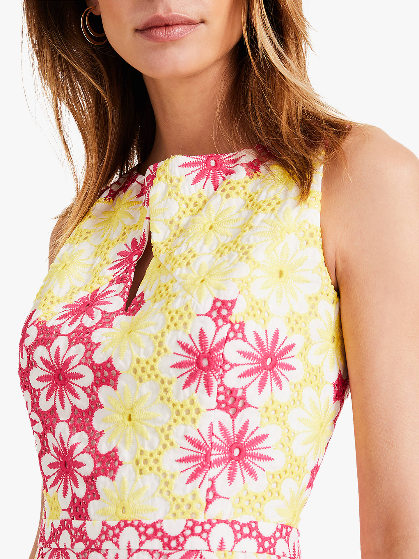 Buy Damsel in a Dress Elanor Embroidered Dress, Yellow/Pink, 8 Online at johnlewis.com