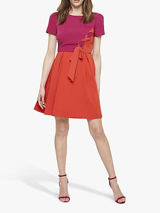 Damsel in a Dress Ciana Colour Block Dress, Purple/Orange