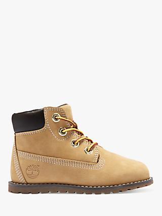 Timberland Children's Pokey Pine 6 Inch Boots, Wheat